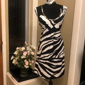 J.B.S  Dress in black and white.  Size LARGE
